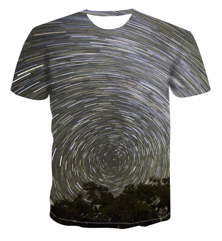 2020 3D yeni renk yıldızı moda tasarımı yaratıcı baskı tişört erkek kısa kollu çoklu fiyat trendi giyim `s-6XL