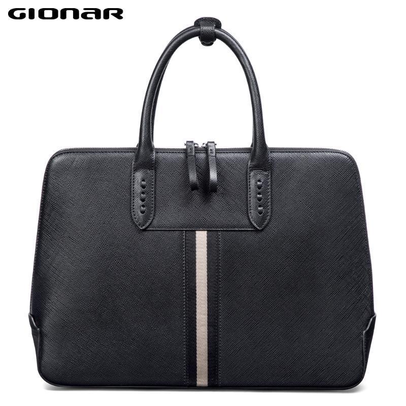 Дюйма Мужская кожа GISAR Tablet 14 Messenger Мужская сумка Портфель для работы Ноутбук Бизнес Crossbod Chase PNHQD