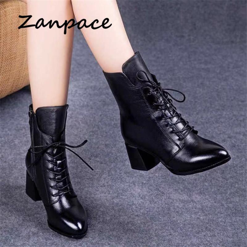 2020 جلد جديد القطن ذات الكعب العالي Thicked المخملية PU المرأة أحذية نسائية الدفء في فصل الشتاء أحذية Zapatos دي موهير