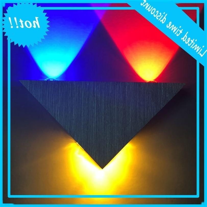 LED üçgen yaratıcı iç 3w9w koridor KTV bar arka plan duvar dekoratif lamba