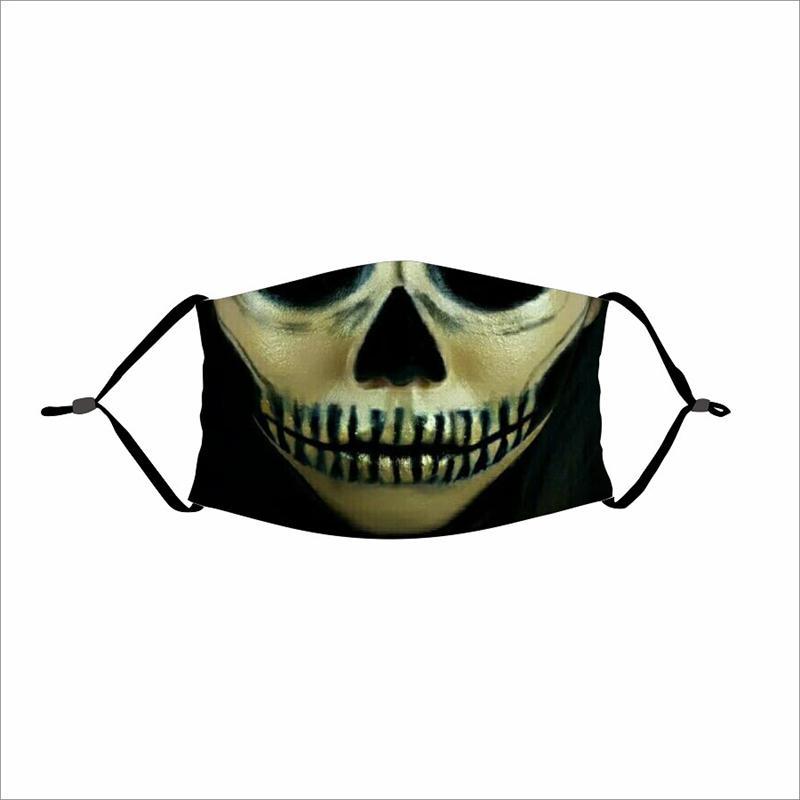 Parti de crâne Masques Clown magique Masque Vélo Designer Ski Sports Demi Masque Polyvalent Masques cou crème solaire visage bouche partie Masque FWD3018