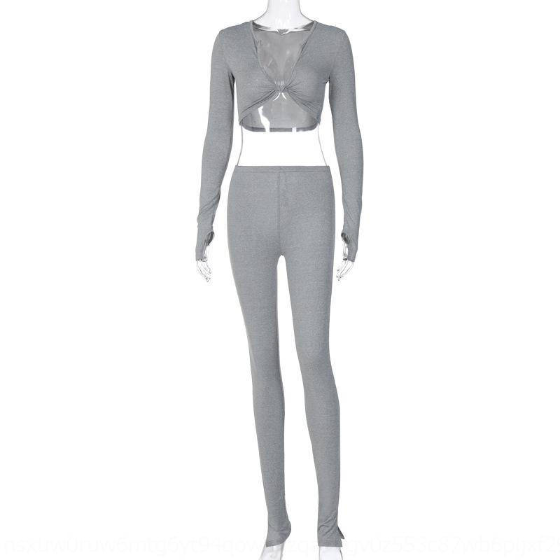 klj3 traje traje de traje largo manga larga 2 pieza conjunto para mujer jogging deportivo camisa leggings trajes sudaderas pantalones vendiendo trajes de deporte caliente klw29