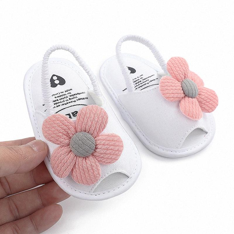 Baby Sandal Newborn Kids Shoes Summer Princess Baby First Walker Shoes Toddler Flower lUwU#