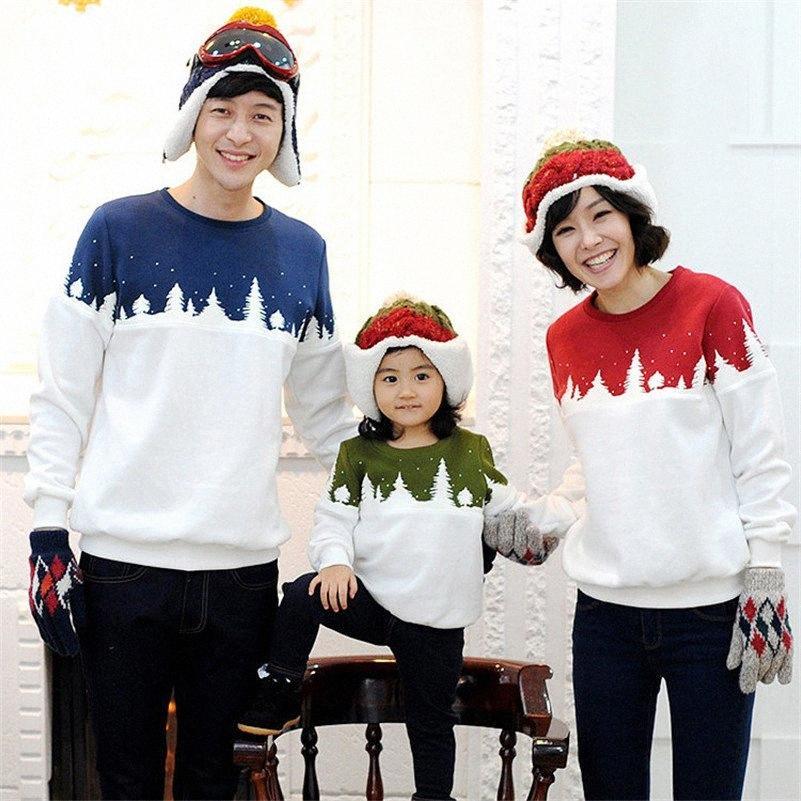 UNIVOS KUNI Familie Weihnachtsbaum Kleidung Dad Mom Kid-T-Shirts Mama und Tochter Kleidung Vater-Sohn-Matching Kleidung J439 S4CB #