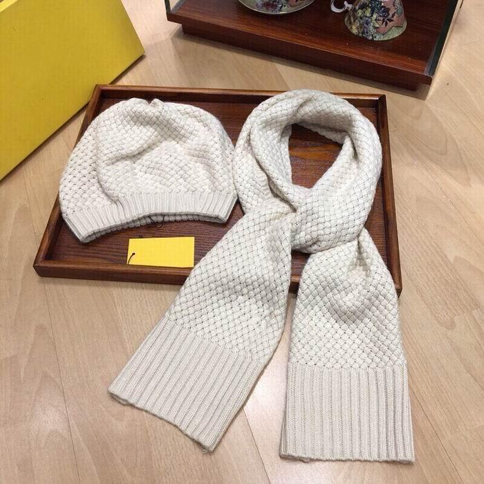 algodão 2020 de alta qualidade tricô chapéus brancos Cachecóis Conjuntos mulheres inverno confortável quentes chapéus, lenços conjuntos com caixa