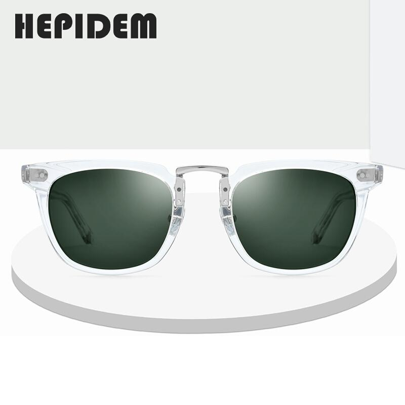 Hepidem ацетат поляризованные солнцезащитные очки 2020 новых женщин высокое качество моды солнцезащитные очки квадрат UV400 солнцезащитные очки для мужчин 9126