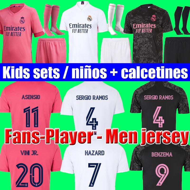 футболки реал мадрид 20 21 real madrid soccer jersey HAZARD JOVIC MILITAO футболка футбола 2020 2021 VINICIUS JR ASENSIO футболка детская футболка MARCELO ISCO футболка футебол