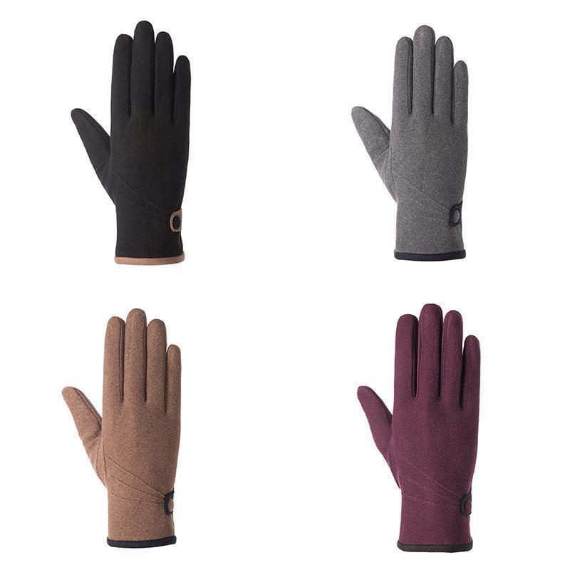 Automne et hiver en peluche de femmes chaudes équitation en extérieur Gants d'écran tactile