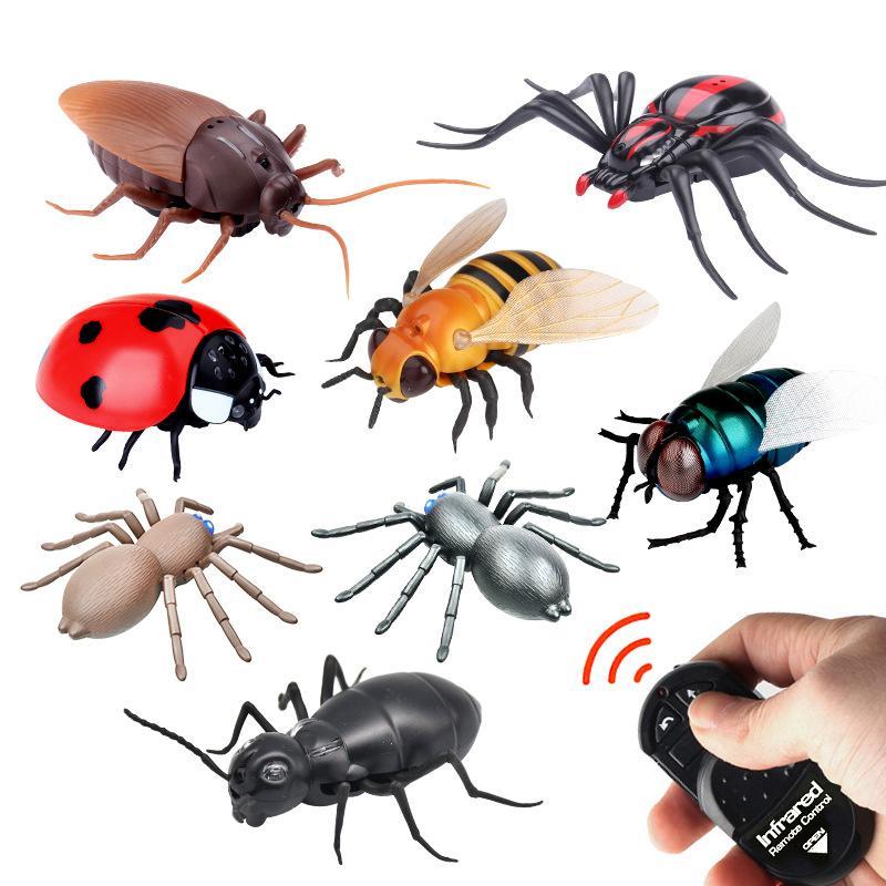 الجدة rc محاكاة الحشرات التحكم عن بعد التحكم عن روبوت الحيوان لعبة مع كابل USB مضحك مرعبة عيد الميلاد الاطفال هدية