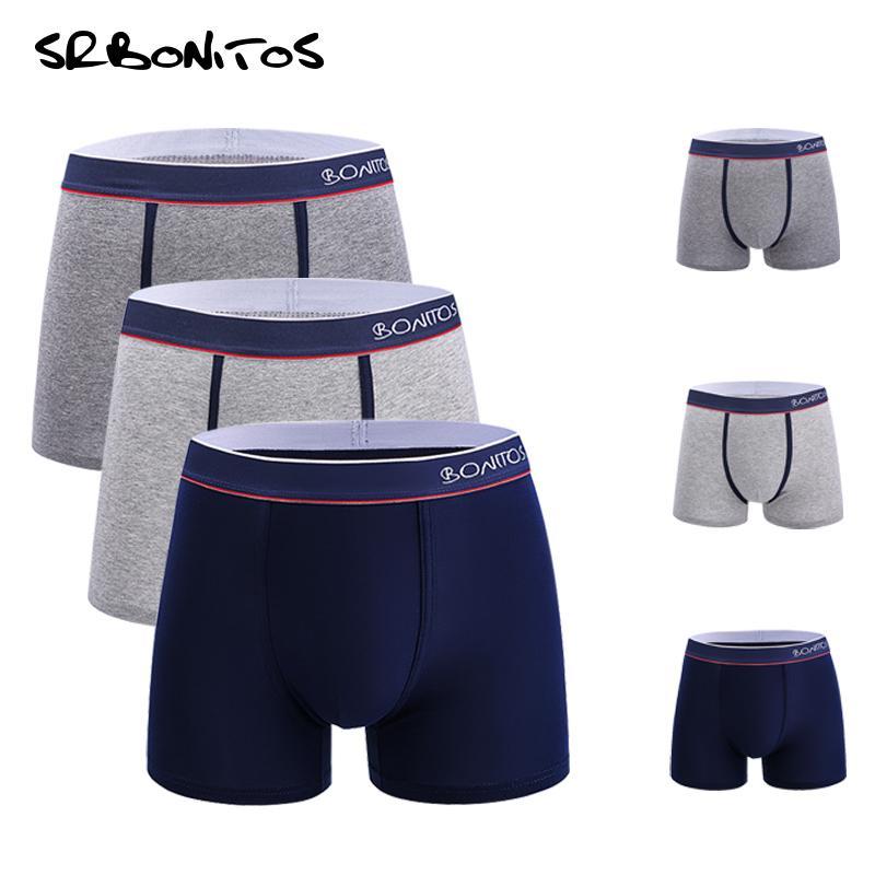 Boxer Men 3pcs/lot Classic Mens Underwear Boxers Men Underpants Comfortable Breathable Male Panties Gay Boxer Homme 201009