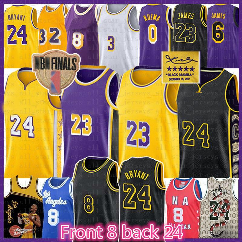 Леброн 23 6 Джеймс Баскетбол Джерси Шакил О'Нил Ирвин Джонсон Лос-АнджелесЛейкерсКобе24Брайант Энтони Дэвис Кузьма 8