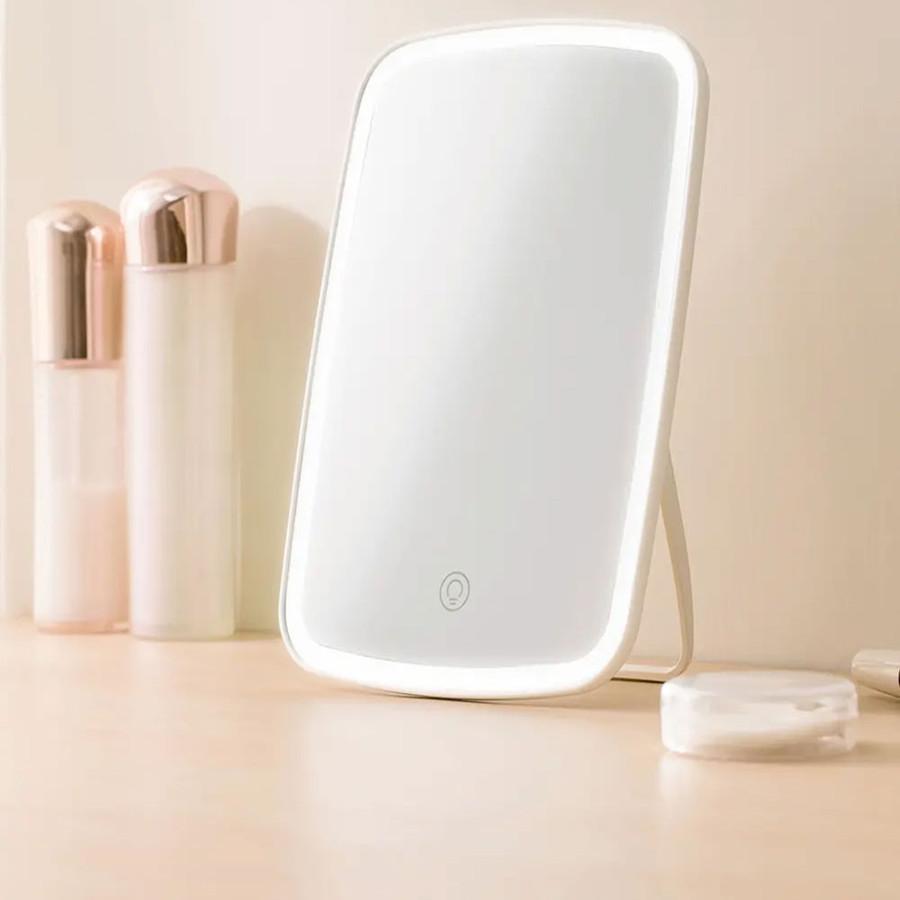 Espejos compactos al por mayor inteligente inteligente maquillaje de maquillaje espejo escritorio LED led adajustable Dormitorio plegable con