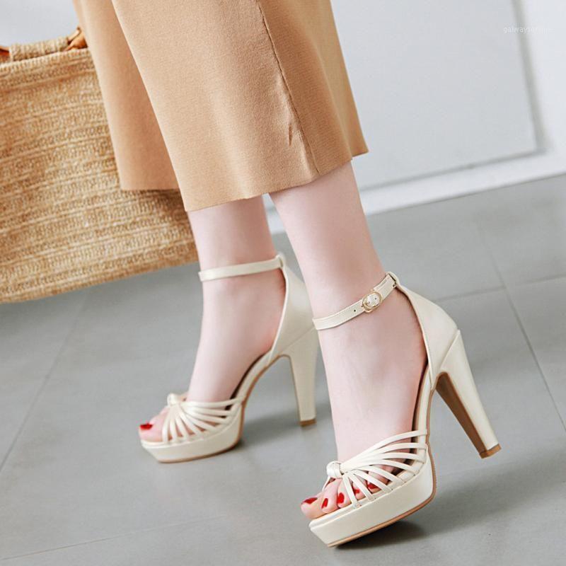 Sandales Femme Femme Boucle Boucle Plus Taille Chaussures Super High High Heel Sexy Club Club Heels Solida Sandalie Feminina Rasteira # 31