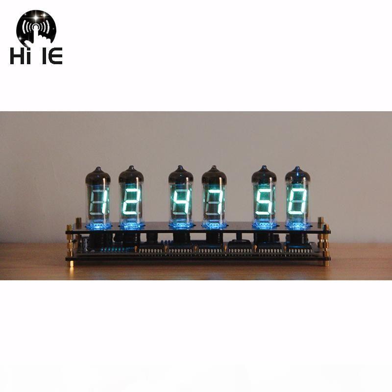 Tubo de cristal creativo regalo IV11 fluorescente kit DIY Reloj VFD resplandor tubo reloj analógico novio regalo resplandor IV11