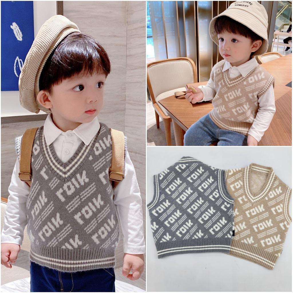 Kinderkleidung Jungenweste Frühling und Herbst 2020 Neue Koreanische Version Baby Strickweste Mädchen Pullover Weste Dünn