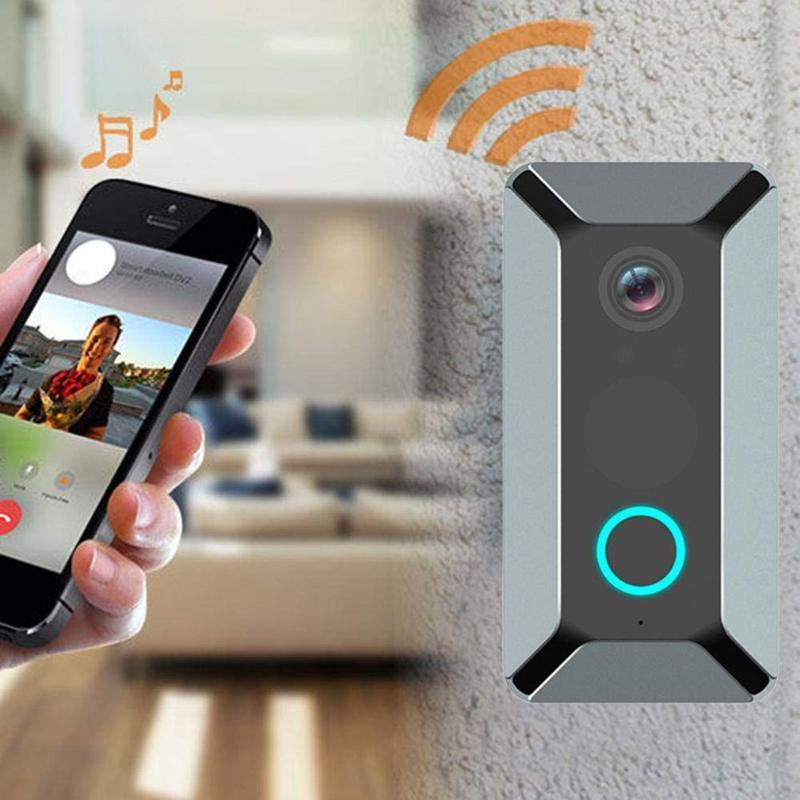 V6 WiFi WiFi WiFi remoto inteligente timbre de la puerta de la cámara de la puerta de la cámara Ding Dong Máquina de video Cámara de video Intercomunicador