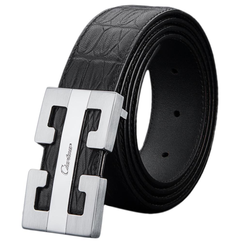Ciartuar cinto de couro genuíno cintos para homens cinturão de desenhista de alta qualidade cinto de cintura de luxo Mens de ouro popular negócio casual masculino j1223