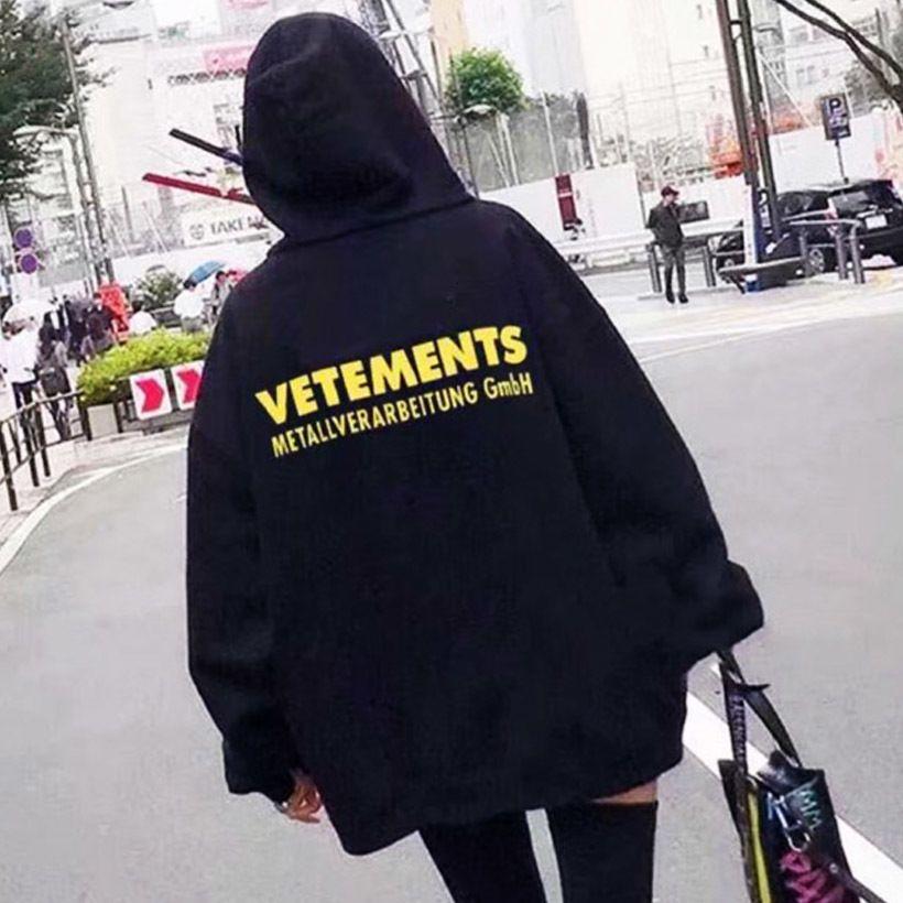 Vélement Femme Hoodies Hommes Femmes Metallverarbeitung GmbH Fashion Hip Hop Pullover Vetements Lettre Print Sweatshirts