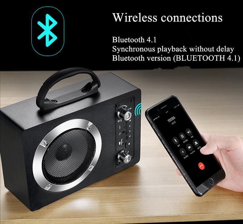 Hot Wireless Bluetooth Bluetooth Portable Cartão ao ar livre FM AUX Áudio HiFi Subwoofer Bluetooth Speakers MP3 Music Player Grande som