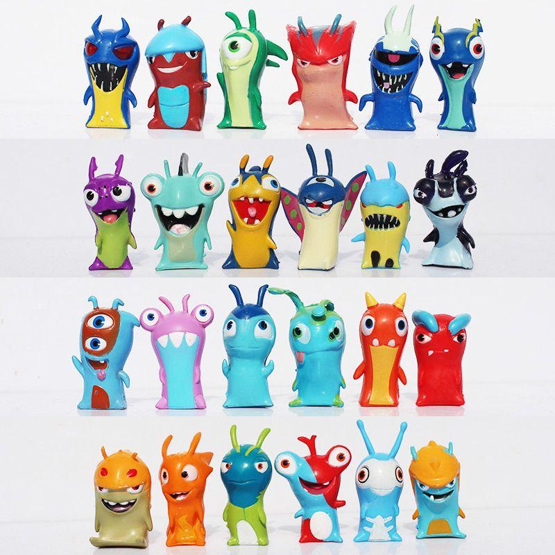 PVC Slugterra Dolls 24Pcs/set 4-5cm Cartoon Slugterra 2 Action Figures PVC Plastic Dolls Toys Gift For Christmas Gift Free Shipping