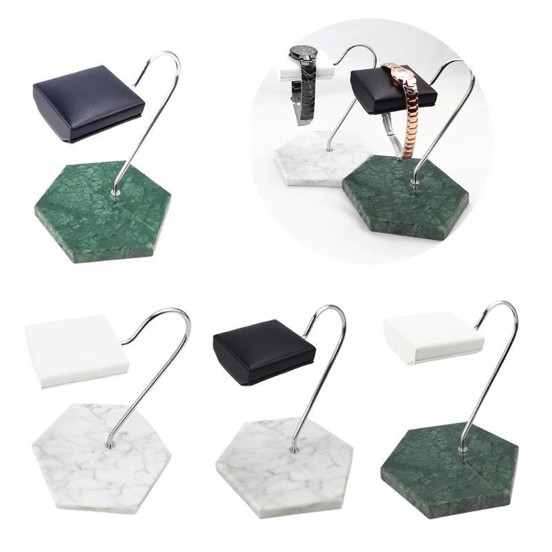 Base in marmo PU Display del supporto per negozio o uso personale Gioielli Organizer T Bar Stand Supporto per la collana