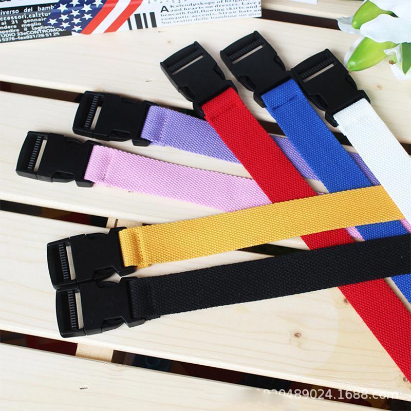 Soporte de cintura Adultos Adultos Ajustable Cinturón All-Match Unisex Estilo Coreano Cinturones de lona Harajuku Hebilla Cinturones de color sólido 116cm1