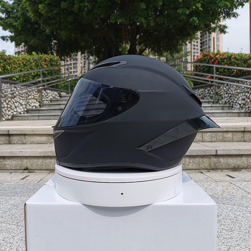 2020 Nova Chegada Capacete de Motocicleta Unisex Face Capacete Capacete Moto Casco Inverno Temporada Segurança Ponto Preto Aprovado1