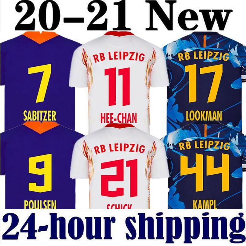 RB LEIPZIG Red Bull 19 20 Accueil Maillots de football à l'extérieur troisième WERNER Camiseta FORSBERG Maillot halstenberg Sabitzer 2019 2020 Chemises Football Kits
