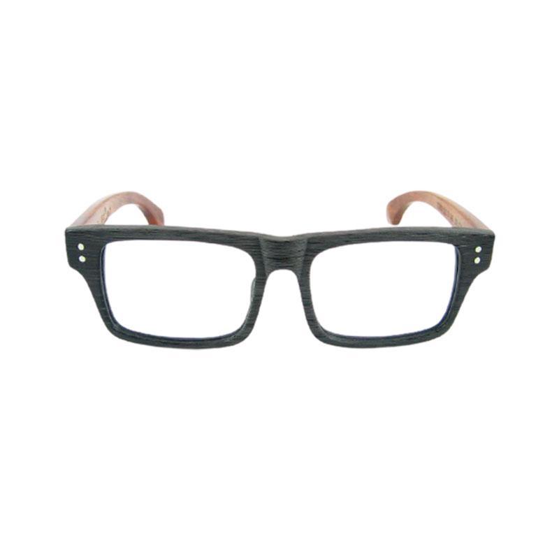 Handgemachte hochwertige hölzerne Brillenrahmen-Rahmen dicke starke Acetatrahmen mit Holzkorn und natürlichen Palisanderarmbrillen