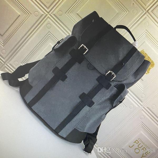M55699 M45419 كريستوفر حقيبة الظهر الصغيرة للرجال سفر المشي حقيبة ذات جودة عالية الكلاسيكية زهرة رجل حقائب تحمل على الظهر Taurillon جلدية الظهر 03