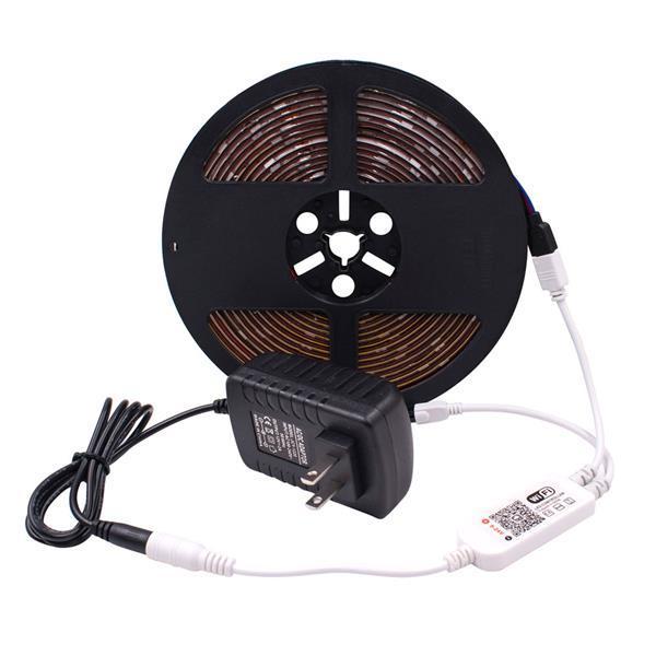 Высокое качество 5M RGB 5050 Водонепроницаемые светодиодные полосы света SMD 44 Клавиша Дистанционная Wifi беспроводной свет Гибкие освещения