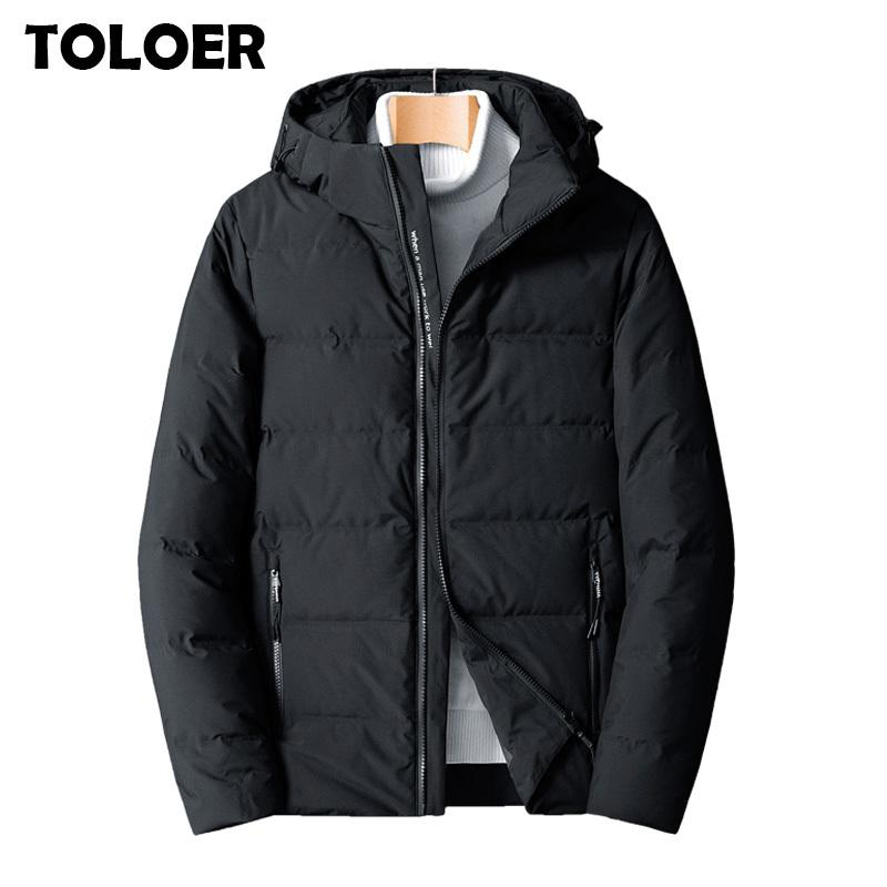 New Fashion Casual Hooded Mens Duck Down Jackets Autumn & Winter Coat Men Lightweight Duck Down Jacket Men Overcoats M-8XL 201022