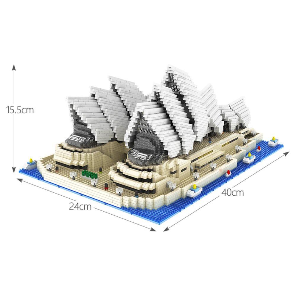 4131pcs 미니 다이아몬드 블록 유명한 도시 건축 시드니 오페라 하우스 모델 빌딩 블록 어린이를위한 벽돌 장난감 C0119