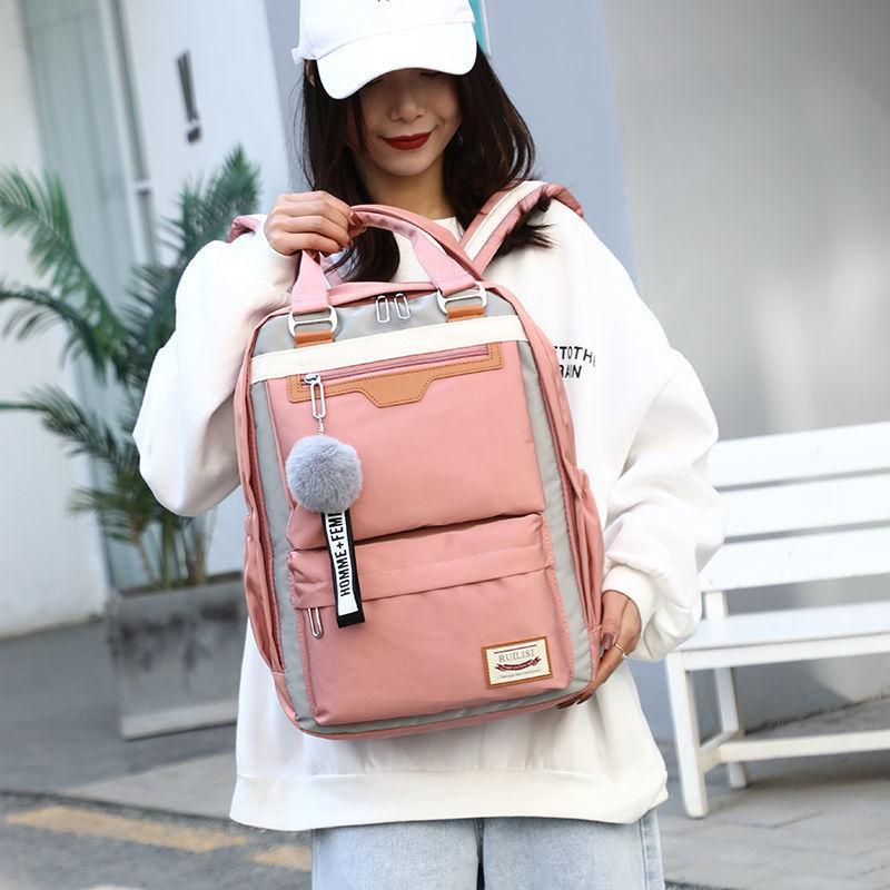 2020 New fashion cute Backpack Girls For Middle School Students Travel Shoulder Backpacks Kids Children Schoolbags Women Bag Q1113
