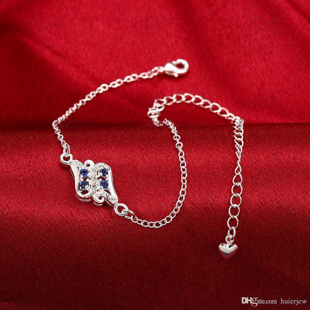 Anklet di gioielli del piede Argellare 925 Anklets per Braccialetto della fidanzata .925 Braccialetti di gioielli graziosi argento Anklet coreano