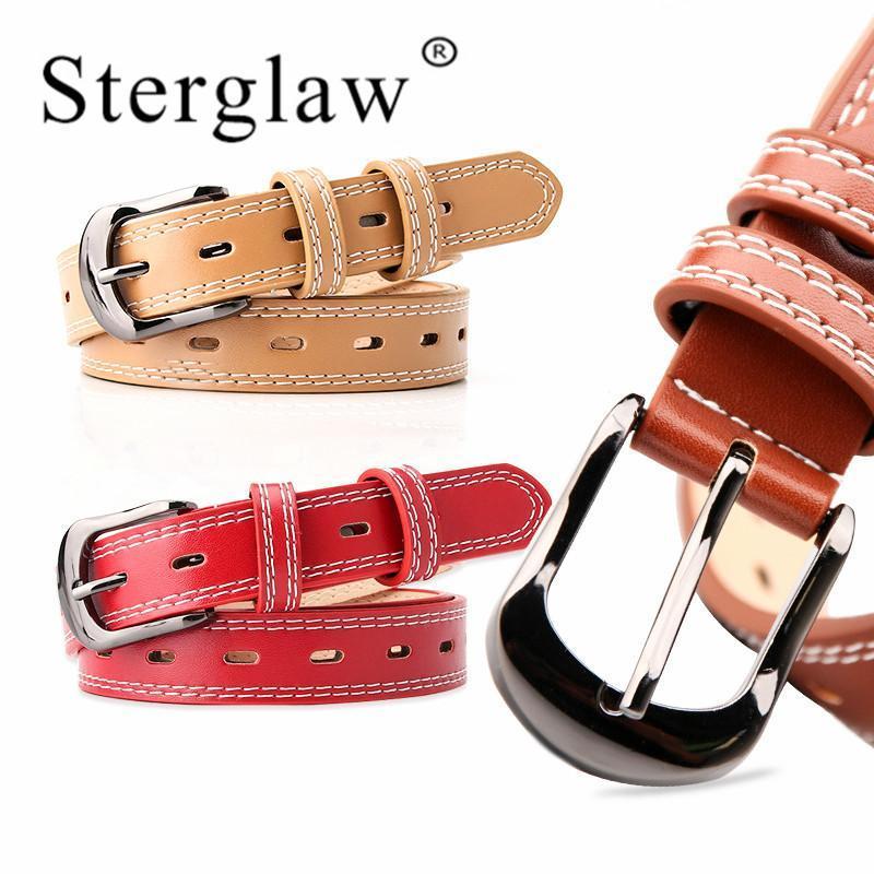 105 * 2.4cm cinturones femeninos Negro blanco de la hebilla del cinturón línea femenina para las mujeres cintura cinturon de mujer 2020 Pasek do Spodní damski A161