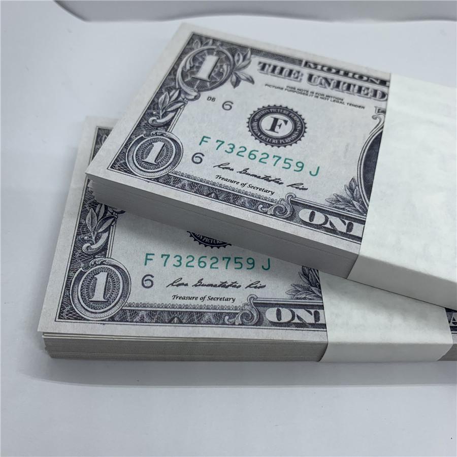 Accesorios moneda ptxer fábrica dólar estadounidense nuevo marca papel 5a directa copia papel moneda de los Estados Unidos ventas moneda juguete rmoeh