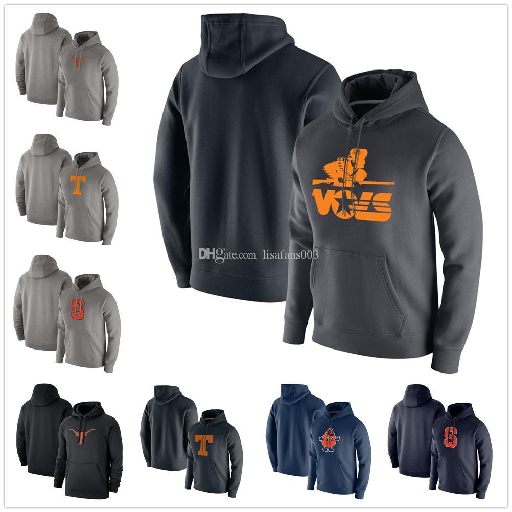 azul con capucha suéter para hombre de Texas Longhorns con capucha de manga larga Syracuse Orange Pullover Marca Moda Hoodies suéter