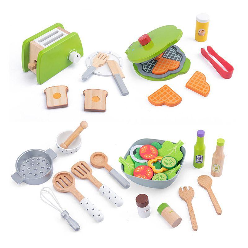 DIY Ahşap Mutfak Oyuncak Rol Yapma Oyunu Simülasyon Modeli Seti Kesme Meyve Sebze Eğitici Oyuncaklar Hediye İçin Çocuk Çocuk Kız 1019