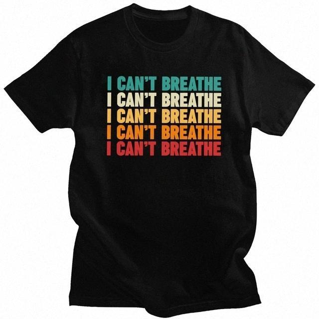 Hommes Femmes Unisexe T-shirts Justice pour George Floyd I Cant Breathe Lettre d'impression T-shirts Citation Lives Noir Matter Tops Rli2 #