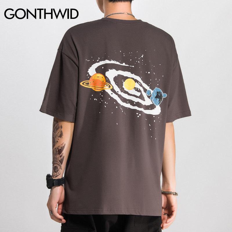 Gonthwid Universo Big Bang Imprimir Manga Curta Tshirts Streetwear Hip Hop Casual Camiseta Homens Moda Verão Hispter Tops Tees LJ200827