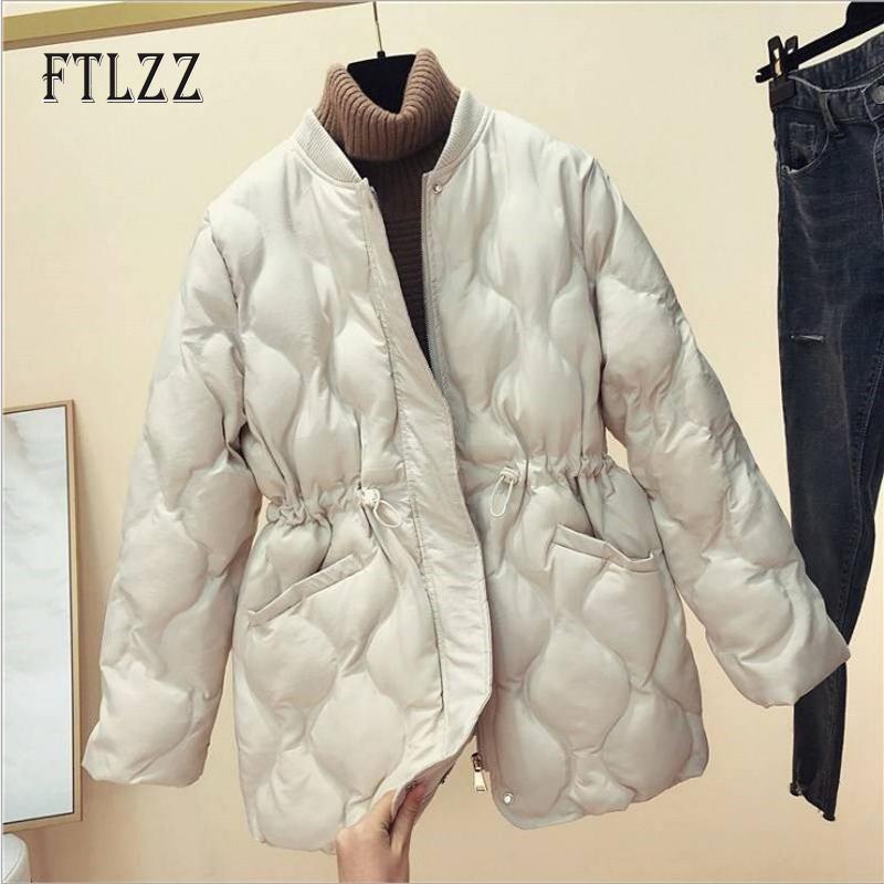 New Mulheres de Down Puffer Coats Warm Winter Ultra Luz Curto Branco Pato Parkas coreano Ladies Zipper Preto Pena Jacket Outwear