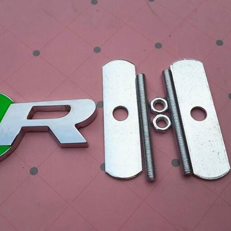 3D المعادن ص ملصق سيارة الجبهة الشواية شعار الجانب درابزين الخلفية جذع ملصق شارة ل xj xf xf s- نوع x- نوع f