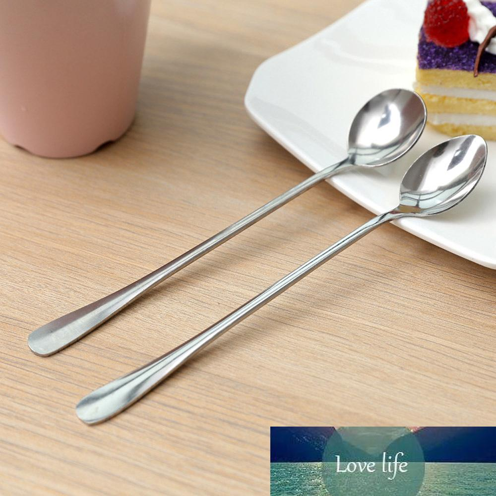 1pc in acciaio inox cucchiaio di caffè manico lungo tea dessert gelato cucchiai caldi bevai accessori da cucina da cucina