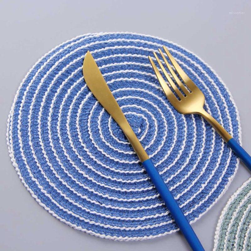 Nordic Round Table Esteira Anti Desligamento Bebida Coasters Isolado Placemats Sólidos Linho Não Slip Ramie Mat Ferramenta de Cozinha Para Decoração Home1