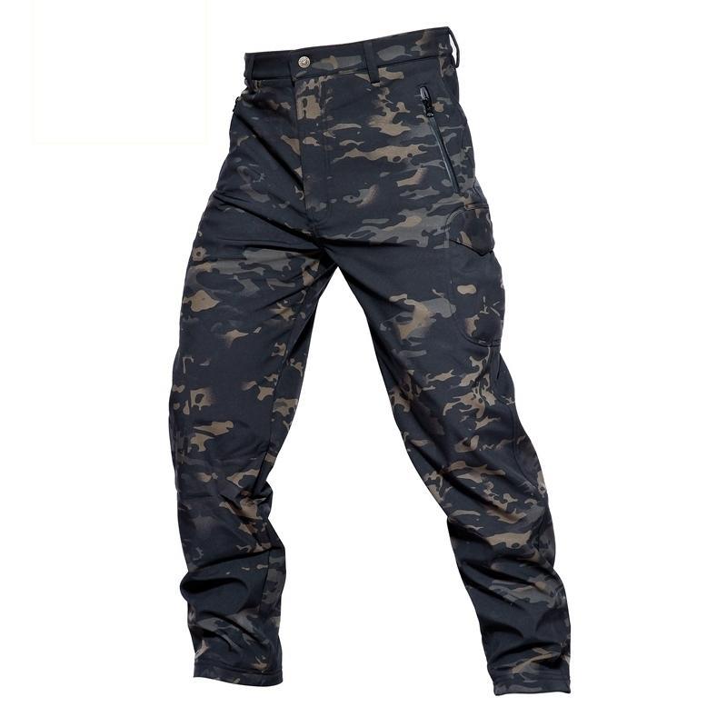 Inverno in pile skin pelle morbida shell pantaloni tattici pantaloni militari camuffamento pantaloni da uomo antivento impermeabile caldo camo pantaloni esercito s-3xl 201116