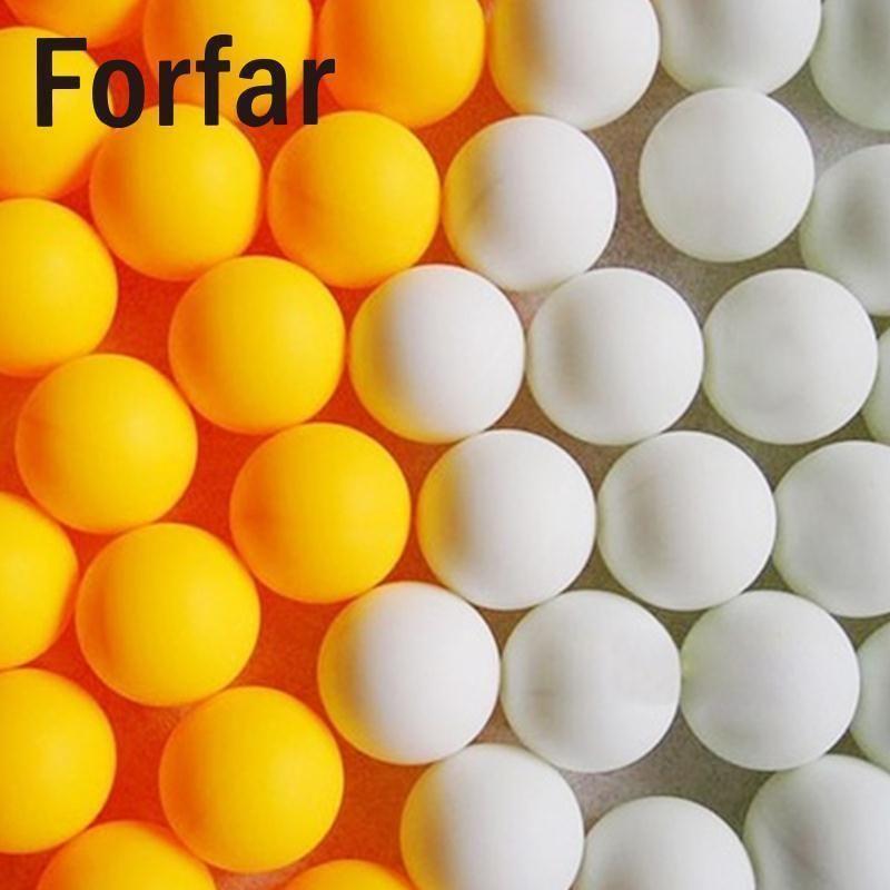 Forfar 150pcs 38 millimetri bianco Beer Pong palline da ping pong palle lavabile Bere Bianco Practice Tennis da tavolo C19041501