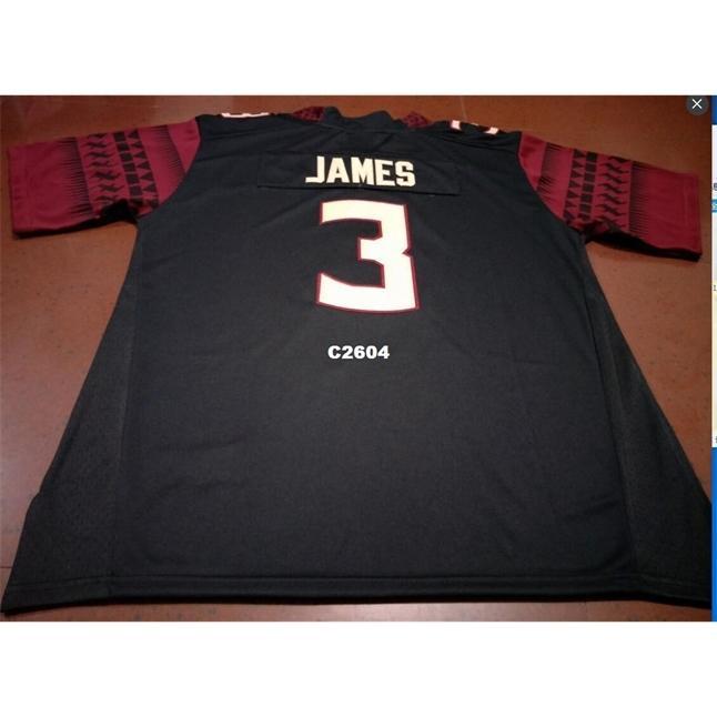 2604 # 3 Black Orange Derwin James Fsu Seminoles Alumni Football Jersey Größe S-4XL oder Benutzerdefinierte Name oder Nummer Jersey
