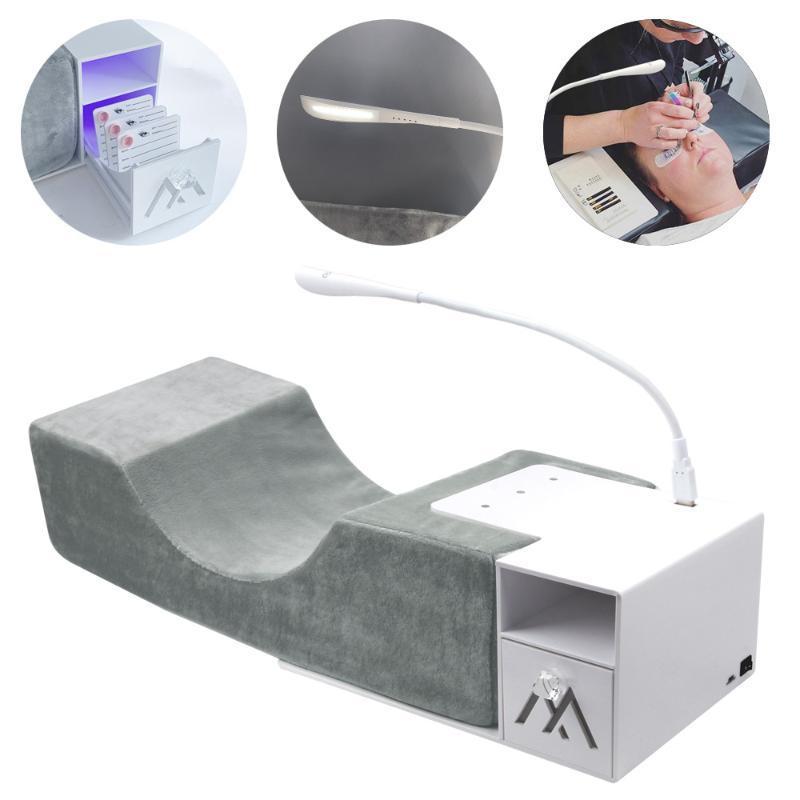 USB Lash Işık İçin Güzellik Boyun Destek Aracı ile Battaniyeler Lash Yastık Raf Aşılama Kirpik Uzatma Yastık Makyaj Araçları