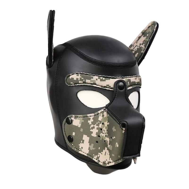 Slave Yumuşak Köpek Neopren Y200616 Yastıklı Oyunlar Maske Malları için Cadılar Bayramı Yetişkinler Çiftler Flört Kölelik Başkanı Tam Parti, Sıradışı BDSM Hood WWQI